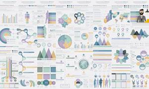 统计分析等信息图元素主题矢量素材
