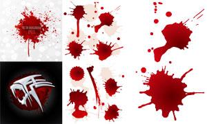 红色血迹喷溅效果主题设计矢量素材