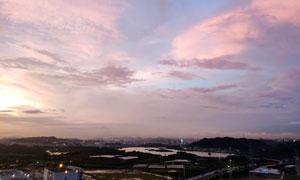 夜幕下深圳全景图摄影图片