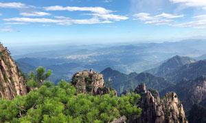 美丽的黄山山顶风光摄影图片