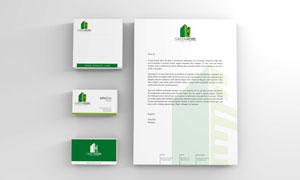 商务名片与办公用纸张贴图分层模板