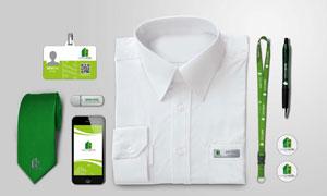 工作牌与衬衫标签胸章贴图分层模板