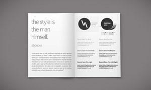质感杂志手册等印刷品样机模板素材