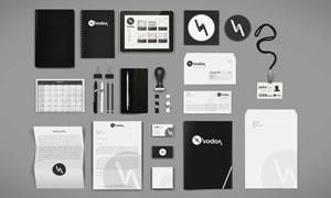 记事本信封等企业视觉元素样机模板