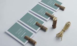 小木棍固定的卡片等样机模板源文件