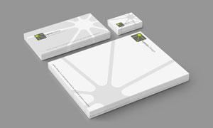 叠放效果的名片信封等贴图分层模板