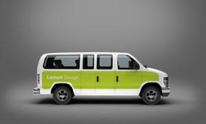 车身广告图案应用效果展示贴图模板