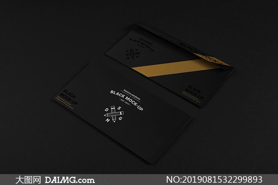 商务信封正反面展示样机模板源文件