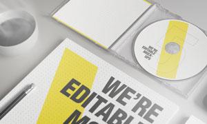 光盘包装应用效果展示样机模板素材