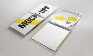 塑料材质光盘包装盒样机模板源文件