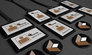 工作牌胸章等企业元素样机模板素材