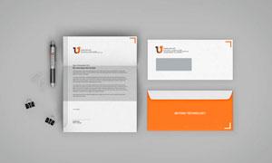 信件与信封正反面应用效果贴图模板