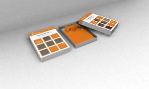 企业服装包装盒展示效果样机源文件