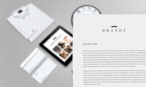 企业商务往来信件内容展示贴图模板