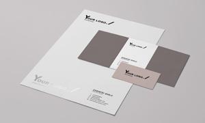 办公用纸与名片信封样机模板源文件