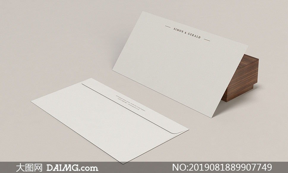 眼镜盒与信封等样机模板分层源文件