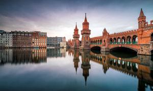 欧式建筑物和桥梁高清摄影图片