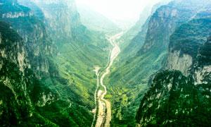 八泉峡大峡谷美丽风光摄影图片