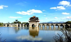 红河建水十七孔桥摄影图片