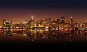 城市建筑美丽夜景摄影图片
