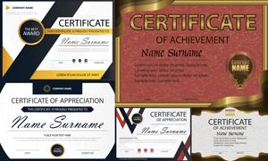 多种多样的授权书与证书等素材V117