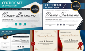 多种多样的授权书与证书等素材V121