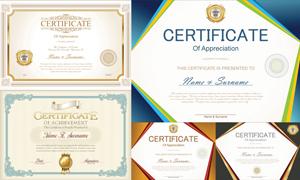 多种多样的授权书与证书等素材V124