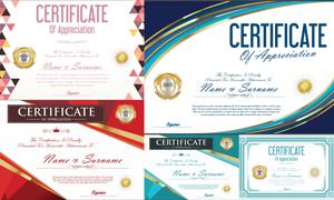 多种多样的授权书与证书等素材V126