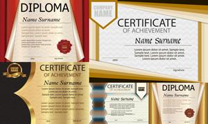 多种多样的授权书与证书等素材V133