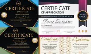多种多样的授权书与证书等素材V135