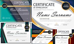 多种多样的授权书与证书等素材V138