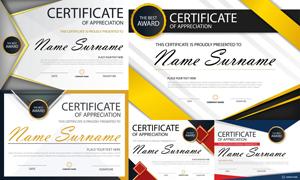 多种多样的授权书与证书等素材V141