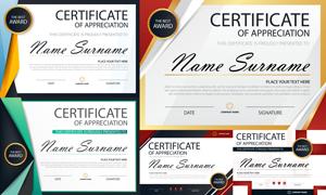 多种多样的授权书与证书等素材V145