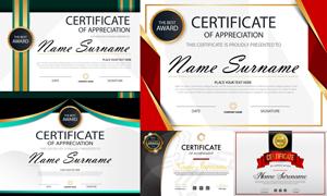 多种多样的授权书与证书等素材V147