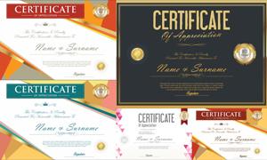 多种多样的授权书与证书等素材V152