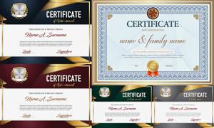 多种多样的授权书与证书等素材V154