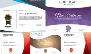 多种多样的授权书与证书等素材V156
