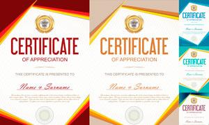 多种多样的授权书与证书等素材V164