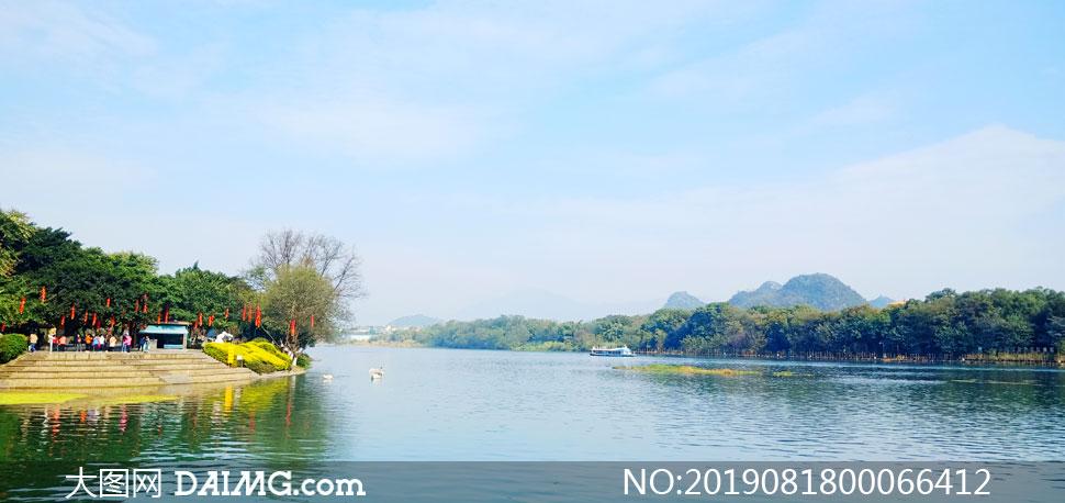 象鼻山湖美景摄影图片