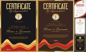多种多样的授权书与证书等素材V165