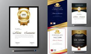 多种多样的授权书与证书等素材V169