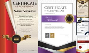多种多样的授权书与证书等素材V171
