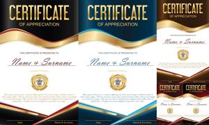 多种多样的授权书与证书等素材V172