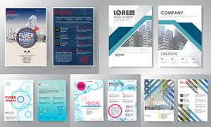 画册页面版式模板矢量素材集合V150