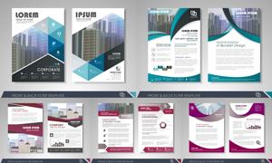 画册页面版式模板矢量素材集合V151