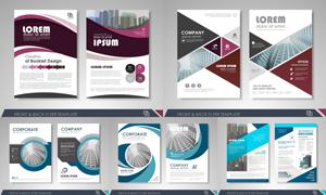 画册页面版式模板矢量素材集合V155