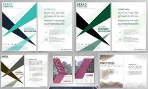画册页面版式模板矢量素材集合V156