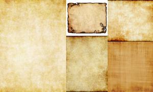 怀旧羊皮纸纹理背景设计矢量素材V04
