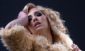 欧美金发美女模特人物摄影高清原片
