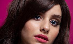 红唇长睫毛的美女写真摄影高清原片